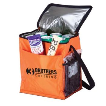 12-Can Cooler With 2 Exterior Pockets - 70D/PEVA Lining