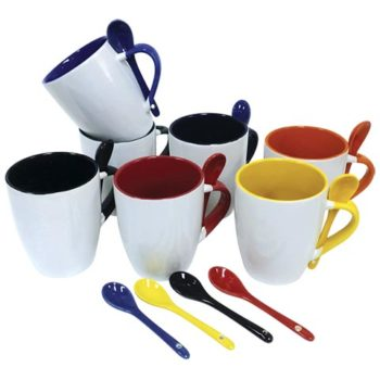 345ml Ceramic Mug with Spoon