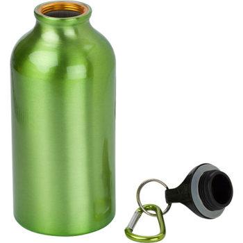 400ml Aluminium Water Bottle with Carabiner Clip