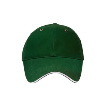 6 Panel Heavy Brushed Cotton And Sandwich Peak