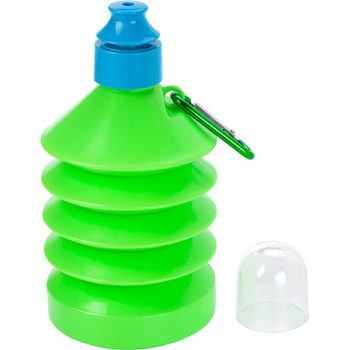 600ml Collapsible Water Bottle with Carabiner Clip