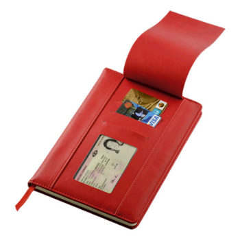A5 Pu Notebook With Flip Up Front Panel