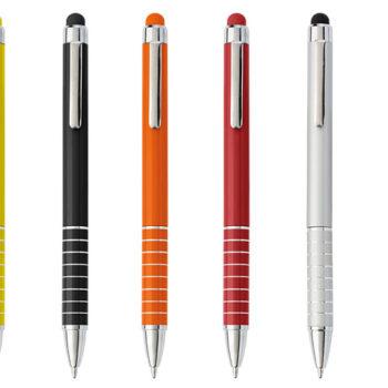 Aluminium Ballpoint Pen with Matching Colour Stylus