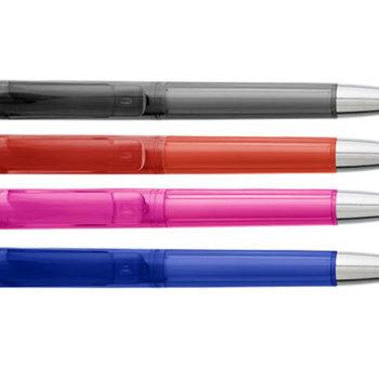 Ballpoint Pen With Transparent Coloured Barrel