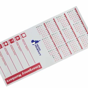 Calendar And Emergency Numbers Magnet