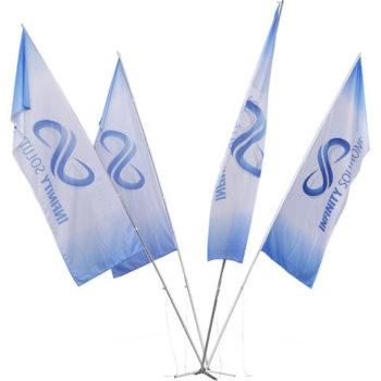 Champion 4 Flag Fountain 5M Medium (1M X 3M Flags)