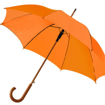Classic Umbrella with Wooden Shaft and Handle