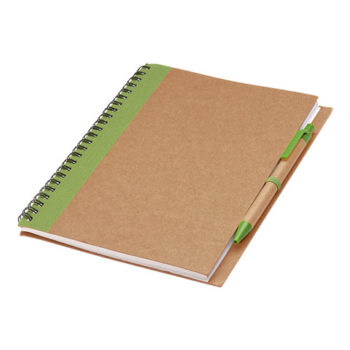 Colour Accented Spiral Notebook with Pen