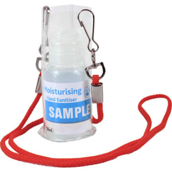 Cord Pouch Lanyard With 50Ml Sanitiser