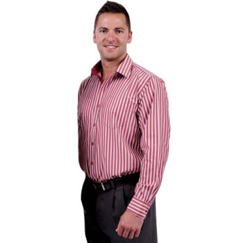 Cotton Rich Fibre Dyed Stripe Mens Shirt