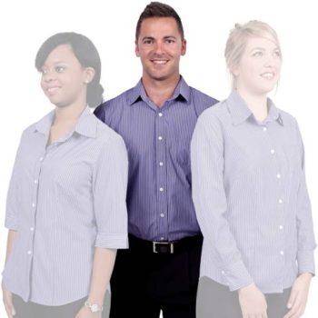 Cotton Rich Fibre Dyed Stripes Mens Shirt