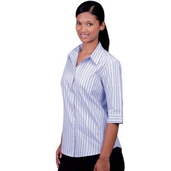 Cotton Rich Yarn Dyed Stripe Ladies Wendy Blouse