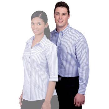 Cotton Rich Yarn Dyed Stripe Mens Shirt