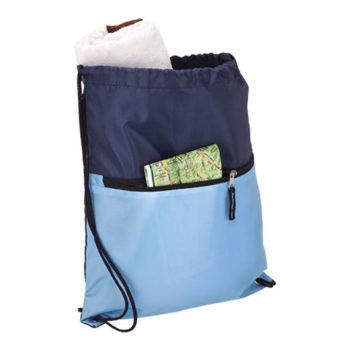 Drawstring Sport Bag With Zip Pocket