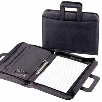 Drop-Handle Zip Around Folder