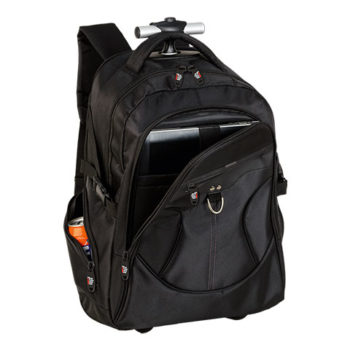 Dual Fabric Rolling Laptop Backpack