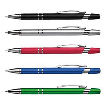 Dual Ring Metallic Ballpoint Pen