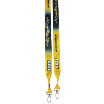 Dye Sublimation Open Lanyard With Double Clip