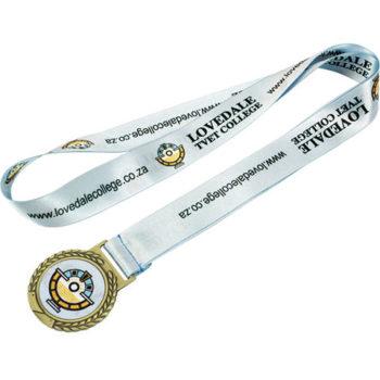 Gold Medal Polyester Ribbon Medal