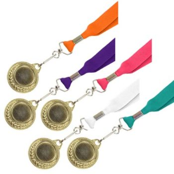 Gold Medal With Screen Printed Ribbon
