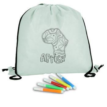 Kids Colouring Drawstring Bag