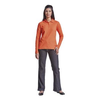 Ladies 175G Pique Knit Long Sleeve Golfer