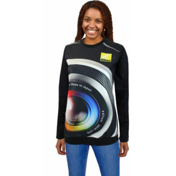 Ladies Bentlee Fleece And Cotton Sweater With Sublimation Print On Front Only