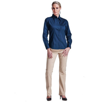 Ladies Brushed Cotton Twill Blouse