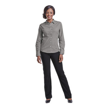 Ladies Clifton Check Blouse Long Sleeve