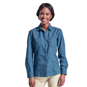 Ladies Denim Blouse Short Or Long Shirt