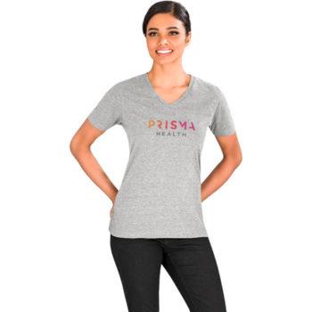 Ladies Michigan Melange V-Neck T-Shirt