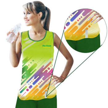 Ladies Tank To Moisture Management With Reflective Strip