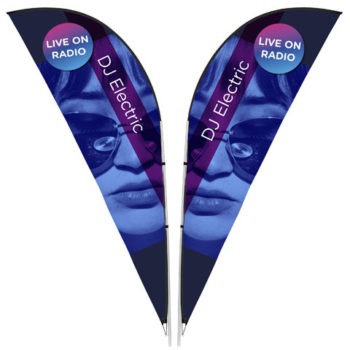 Legend 3M Sharkfin Double Sided Flying Banner