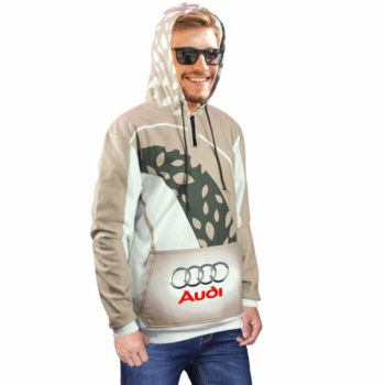 Mens Brix Sublimated Hooded Sweater With 1/4 Zip