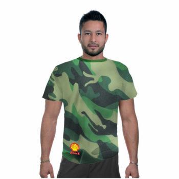 Mens Camouflage Crew Neck Tshirt
