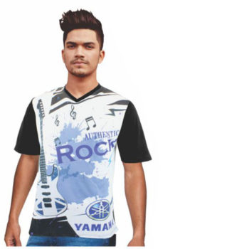 Mens Isla Moisture Management V Neck Sublimation T-Shirt