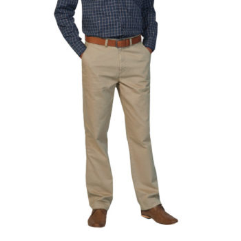 Mens Peached Twill Nathan Flat Front Chino