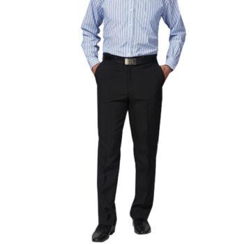Mens Polyester Hugo Flat Front Trouser