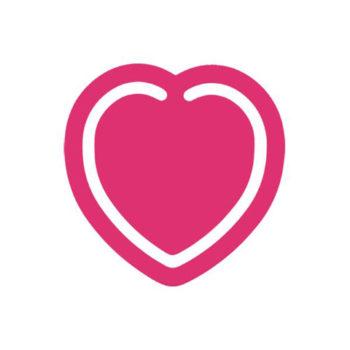Mini Heart Book Mark