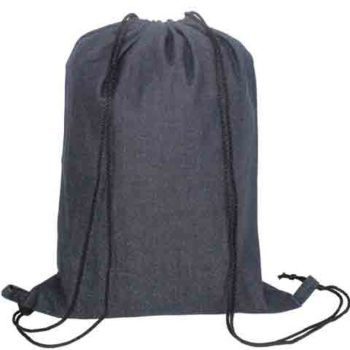 Nava Denim Drawstring Bag