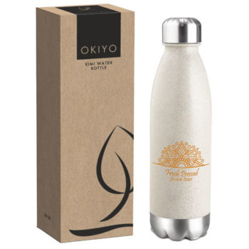 Okiyo Kimi Wheat Straw Water Bottle - 680ml
