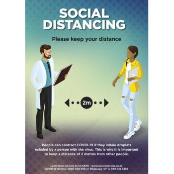 Saturn A0 Social Distance Poster