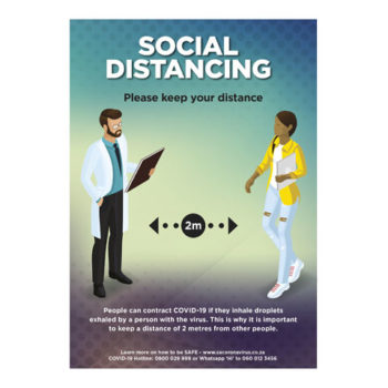 Saturn A1 Or A2 Social Distance Poster - Set Of 3