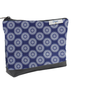 Shweshwe Cosmetic Pouch With Learette
