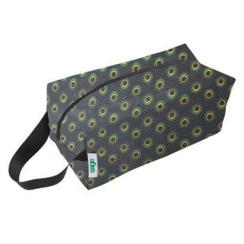 Shweshwe Spruce Toiletry Bag