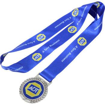 Silver Satin Ribbon Medal