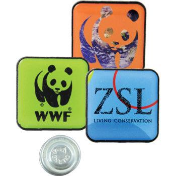 Square Lapel Badge