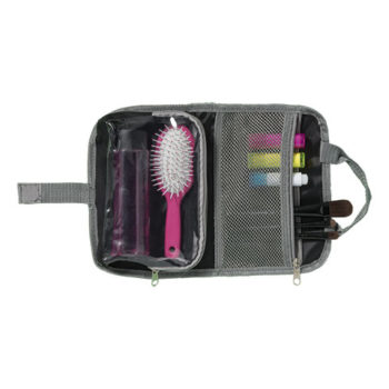 Toiletry Bag With Dual Zippered Compartments