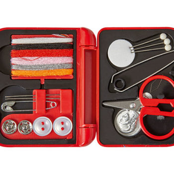 Travel Sewing Kit In Plastic Case