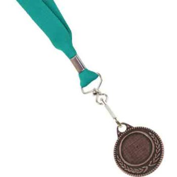 Unbranded Ribbon With Bronze Medal